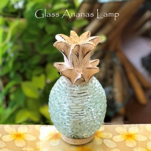 パイナップル ランプ ガラスのランプ アナナス