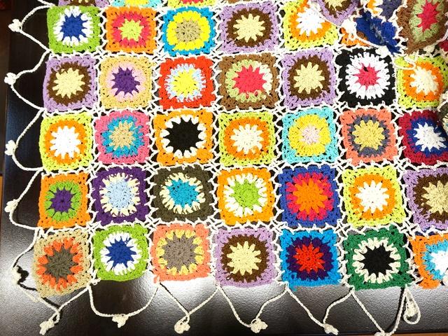 手編みパッチワーク