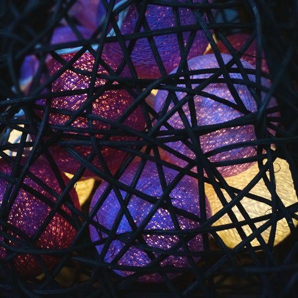 チェーンライト/コットンボールライト/ラタン籠