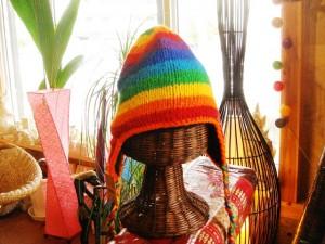 手編みニット帽