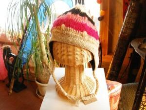 手編みニット帽子/ネパール雑貨