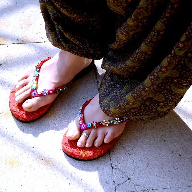 布サンダル/エスニックファッション
