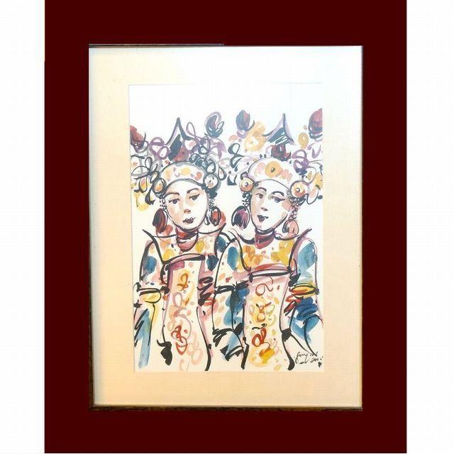 バリ絵画/アジアンリゾートインテリア
