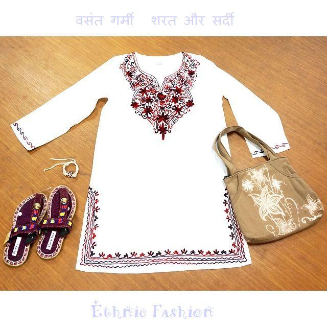 刺繍クルタ/エスニックファッション