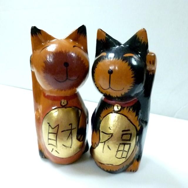 バリ 木彫り猫