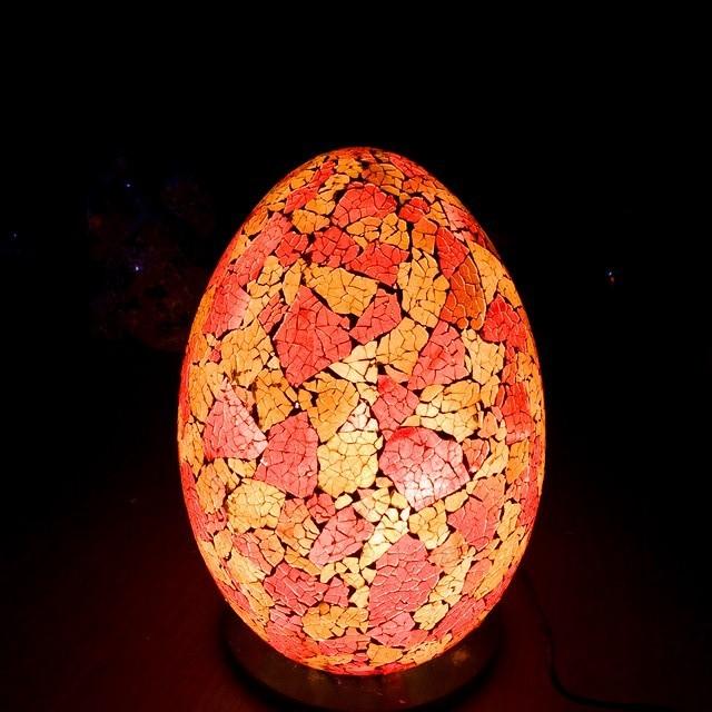 モザイクガラス ランプ