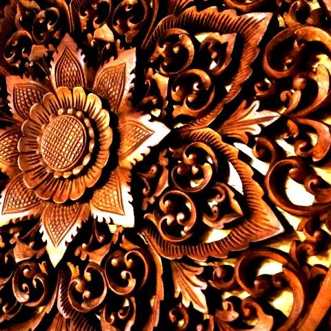 木彫りアートパネル