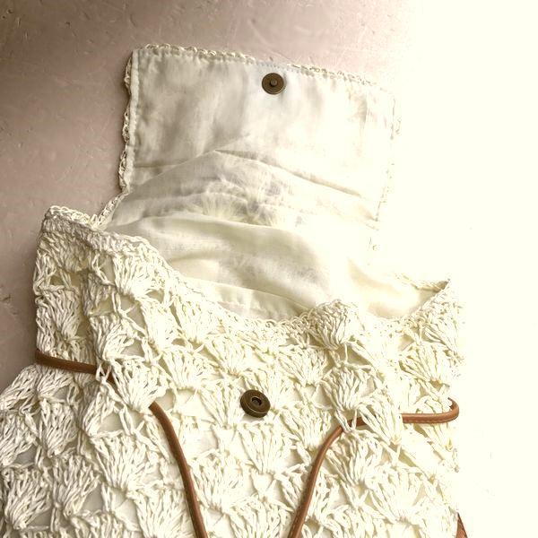 手編みバッグ/ペーパーヤーンリュック