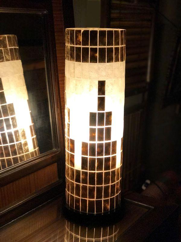 カピス貝ランプ/シェルランプ 間接照明/アジアンランプ