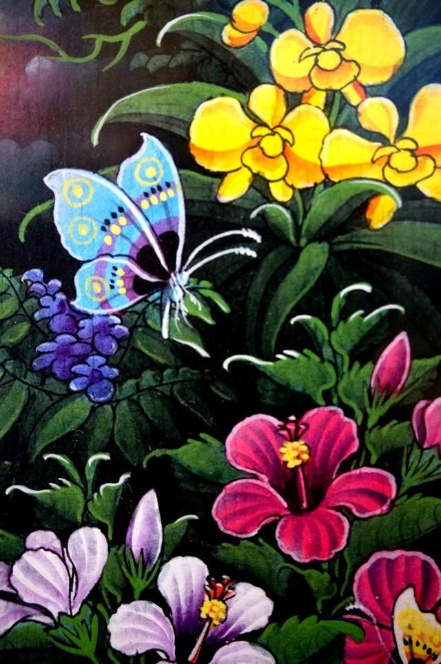 バリ絵画 花鳥風月